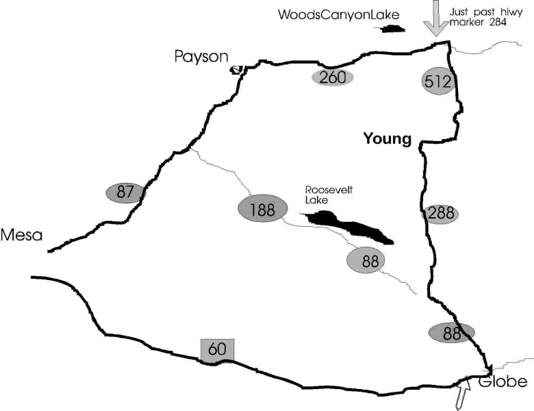 Young Arizona Map Where is Young, Arizona? | Cherry Creek Cabins